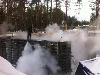 Зимний бетон. Особенности применения