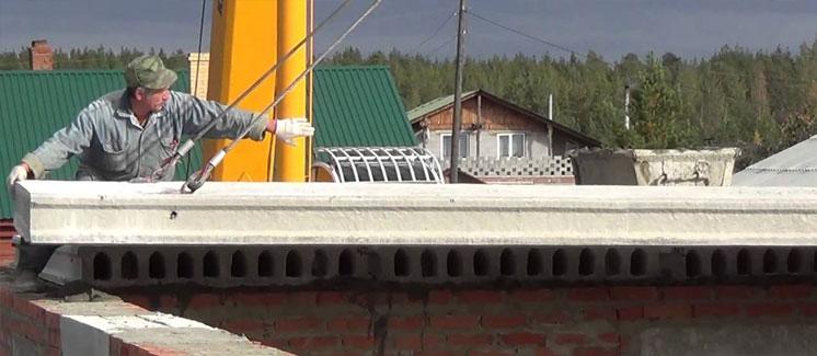 Укладка плит перекрытия бетонных колонны железобетонные в москве